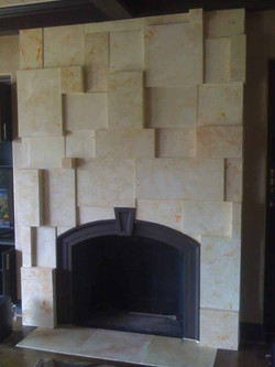 Scagliola Blocks Fireplace