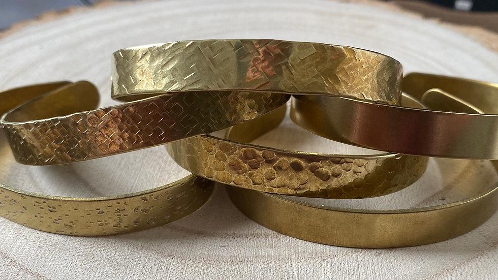 Handmade brass cuff bangles