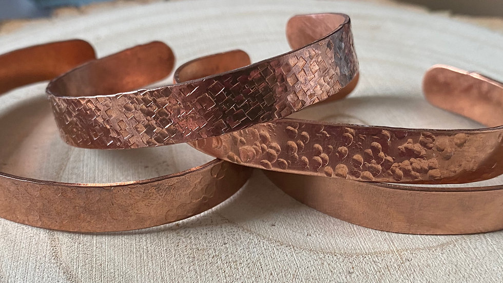 Handmade copper cuff bangles