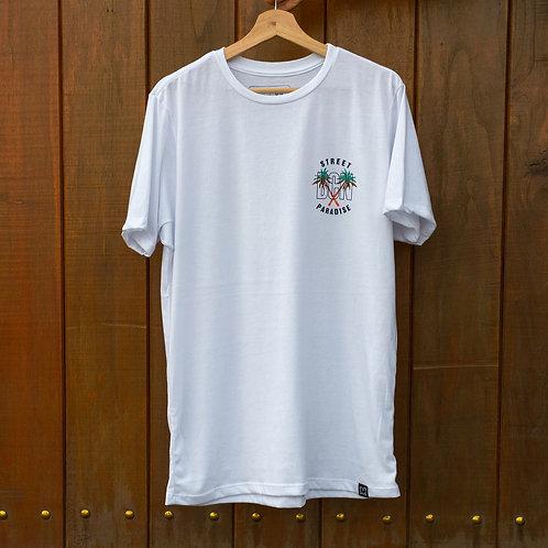 Camiseta Mutanty Street Paradise - Blanco
