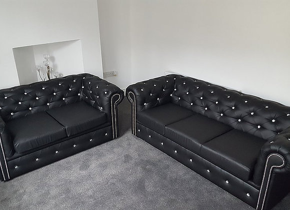 New Chesterfield 3 & 2 Sofa