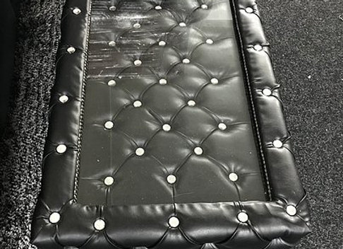 Chesterfield Coffee Table in Black Leather