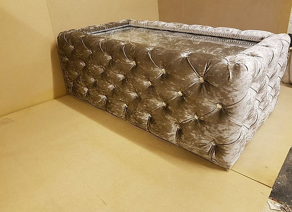 Chesterfield Coffee Table in Truffle Crushed Velvet