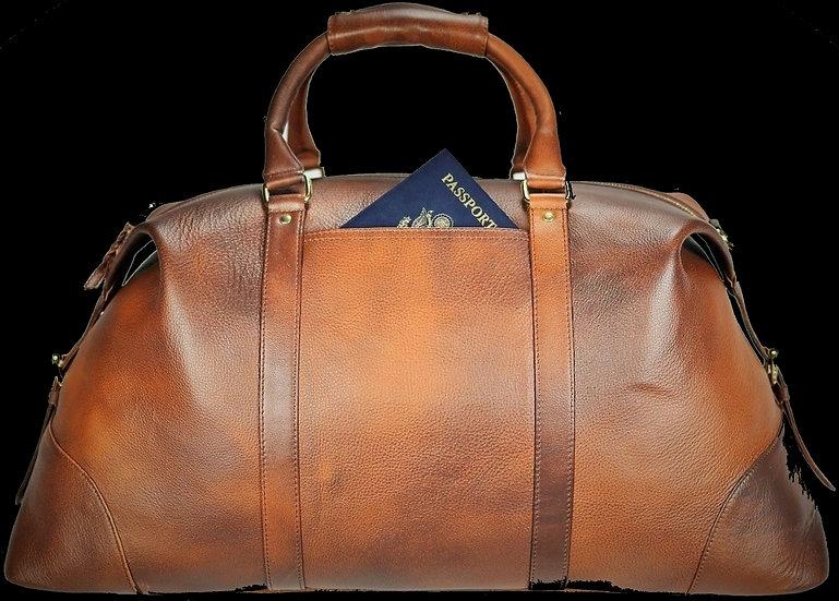 Weekender Bag Leather - Marble Brown