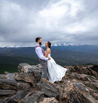 Mountain top wedding Colorado