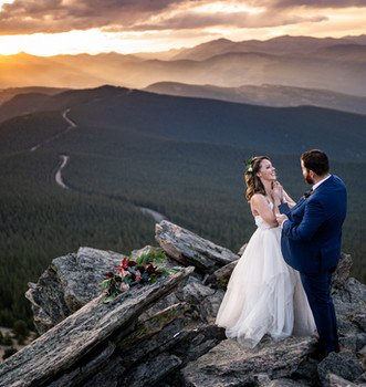 Magic at sunset in the rocky mountains