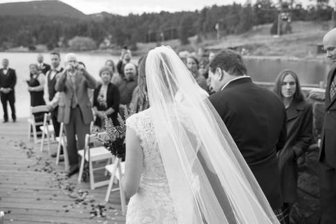 Colorado wedding aisle