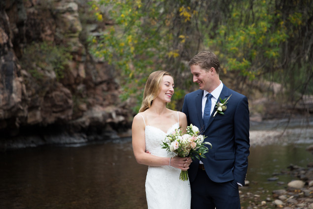 Colorado wedding first look
