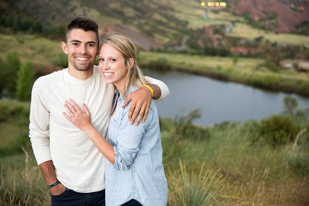 Colorado mountain engagement