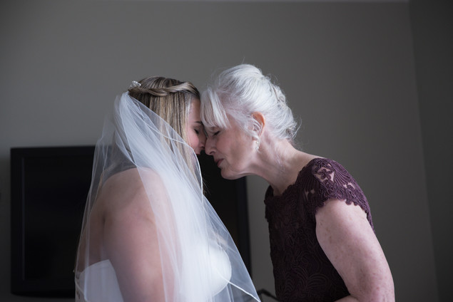 Colorado Intimate moment between bride and mother of the bride