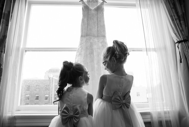 Colorado wedding flower girls