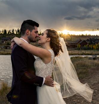 Magic hour wedding