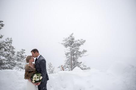 Breckenridge, Colorado winter elopement