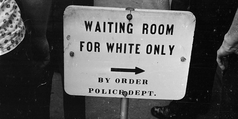 WHITE ONLY SIGN