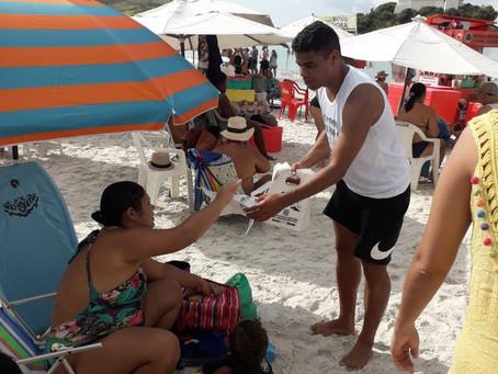Operação Praia Limpa e Segura, iniciativa da Salineira, faz sucesso no final do ano em Cabo Frio