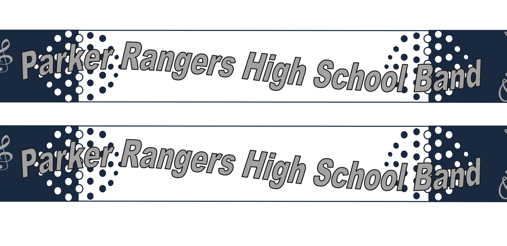 High School Marching Band Scarf