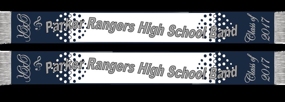High School Marching Band Scarf