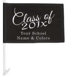 High School Senior Year Car Flags