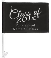 High School Senior Year Car Flags