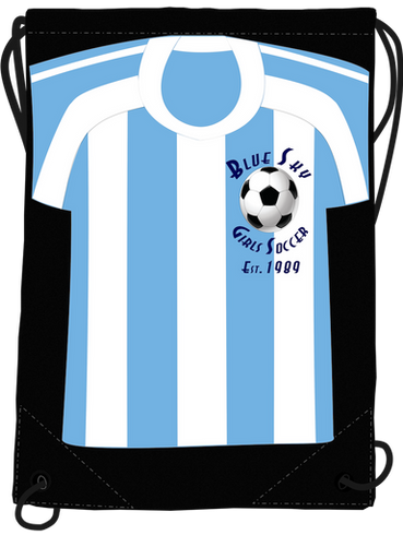Custom Soccer Club Drawstring Bags