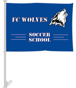 Soccer Club Car Flags