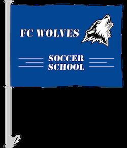 Soccer Club Car Flags