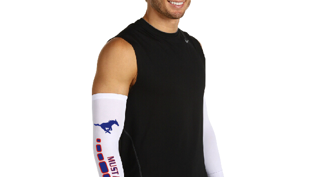 Basketball Player with Arm Sleeve