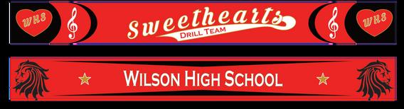 High School Drill Team Scarves
