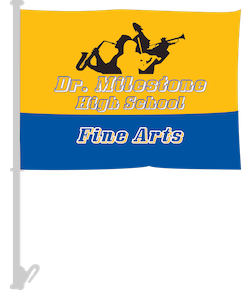 Music and Fine Arts Car Flags