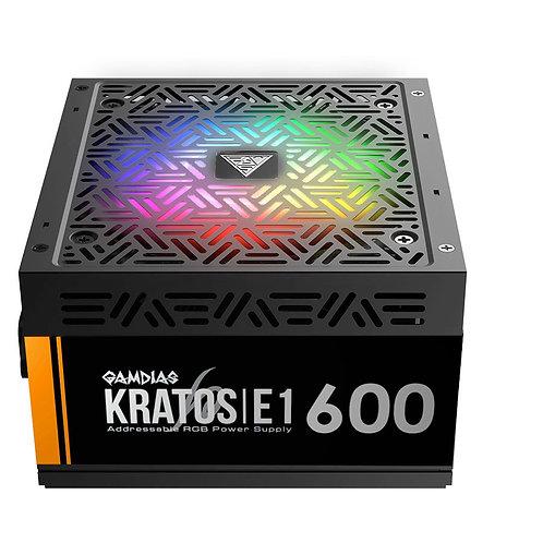 Gamdias Kratos E1-600W RGB ספק כוח