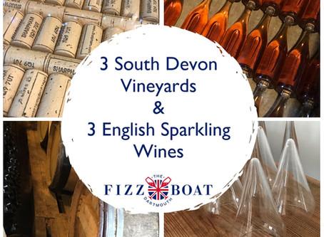 3 South Devon Vineyards, 3 English Sparkling Wines!