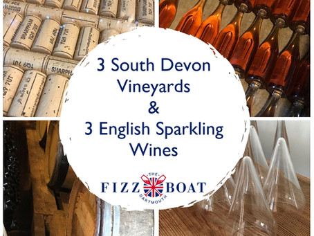 3 South Devon Vineyards, 3 English Sparkling Wines!