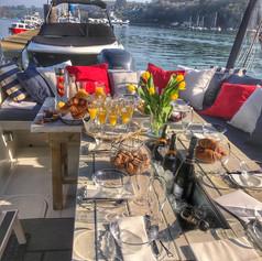 Breakfast on The Fizz Boat