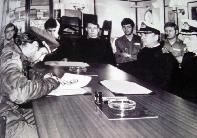 HMS Plymouth, South Georgia Surrender, Falklands Conflict