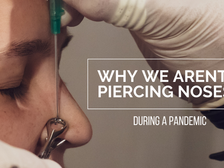 Why You Should NOT Get Your Nose Pierced If You're Still Wearing Masks