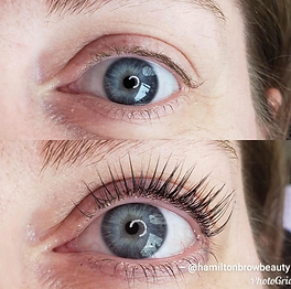 before after lash lift and tint - create longer thicker lashes without lash extensions - lasts up to 4 weeks