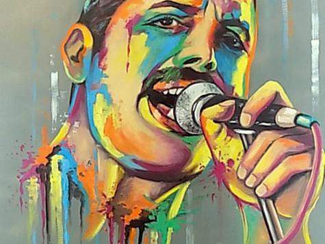 Freddie Mercury by Eva Bazhenova (SOLD)