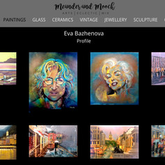 My paintings in the Meander and Mooch Gallery