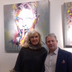 Andy, owner of the Gallery and Eva Bazhenova