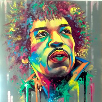 Jimi Hendrix by Eva Bazhenova