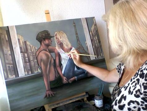 Eva Bazhenova at work
