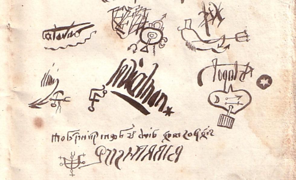 Demon Signatures - Urbain Grandier (1590