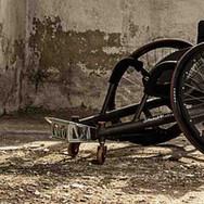 Obranný vozík pro rugby tělesně postižených