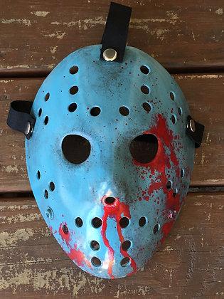 8Bit Hockey Mask Distressed