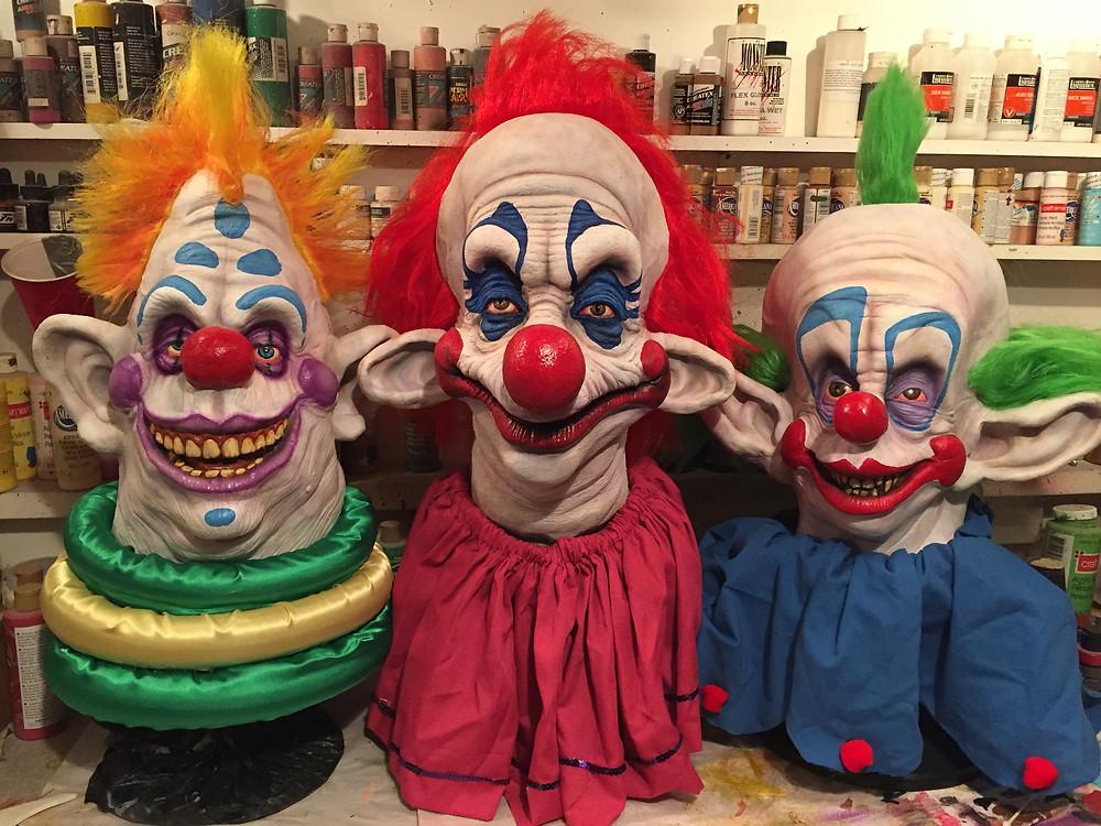 Killer Klown Mask Bust Custom Display