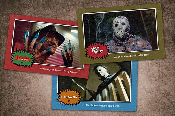 Retro Horror Trading card poster set