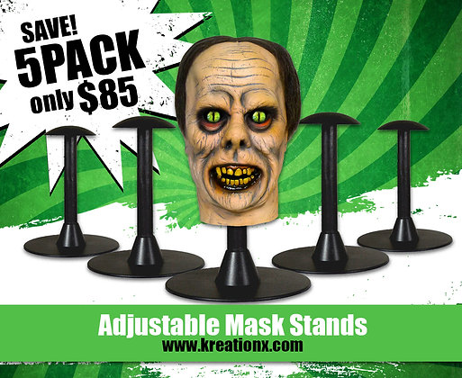 5 pack of Adjustable Mask or Helmet Stands