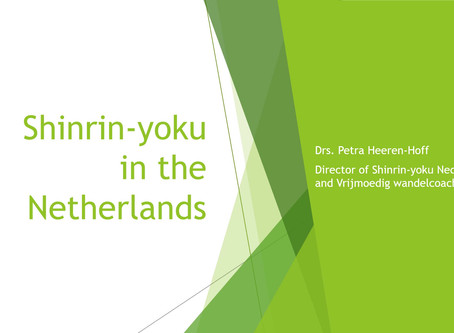 Shinrin-yoku Nederland lezing (Japan mei 2019)