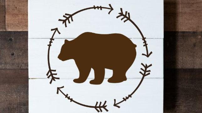 Bear with Arrows Circle