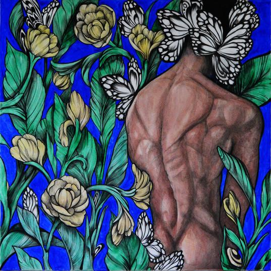 Haris Rashid, Synthesis, 80 x 80 cm, Acr